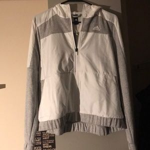 Adidas White and Gray Jacket Size Small